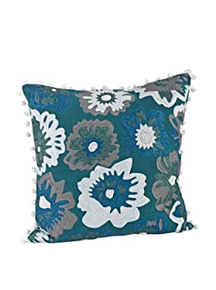 Saro Lifestyle Green Dahlia Square Pillow