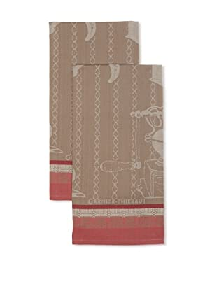 Garnier-Thiebaut Set of 2 Moulin a Café Crema Kitchen Towels