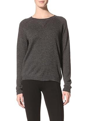 Kokun Women's Cashmere Sweatshirt (Charcoal)