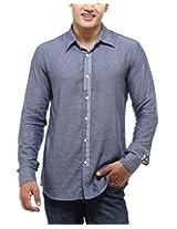 See Designs Men Buttoned Shirt (SDMDWSS14SH115_XXL, GREY, XXL)