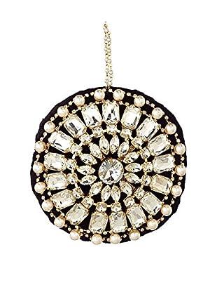 Sage & Co. Gem and Pearl Velvet Round Ornament