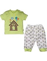 FS Mini Klub Baby Boys Cotton Nightwear Set - (3-6 Months)