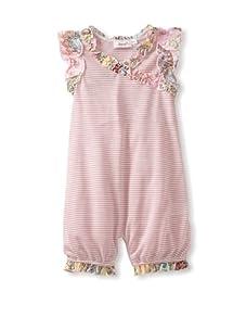 Jupon Baby Carli Short Sleeve Ruffled Romper (Light Pink)