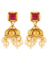 Adwitiya Collection 24K Gold Plated Fusion Jhumki Earring for Women