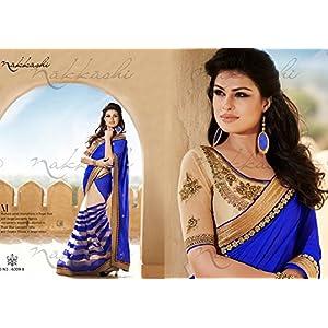Indian Designer Bollywood Replica BLUE BERRY Saree 1222