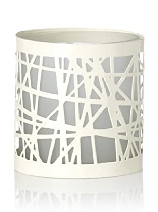 Global Views Strapping Candleholder/Vase (White)
