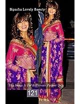 Bipasha basu beautiful party wear saree in blue net