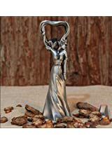New design Russia import Tin alloy exquisite 3D Sexy beauty bottle opener (Grey)