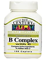 21st Century B Complex with C Tablets, 100-Count