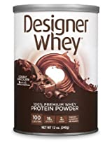 DESIGNER WHEY 100% Premium Whey Protein Powder, Double Chocolate, 12-Ounce Canister,(Pack of 2) Personal Healthcare / Health Care