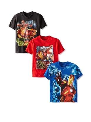 Freeze Boy's Avengers 3-Pack T-Shirt Bundle (Assorted)