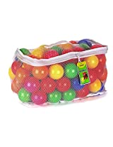 Click N Play Pack Of 100 Phthalate Free Pba Free Crush Proof Plastic Ball, Pit Balls 6 Bright Colors In Reusable And Durable Storage Mesh Bag With Zipper