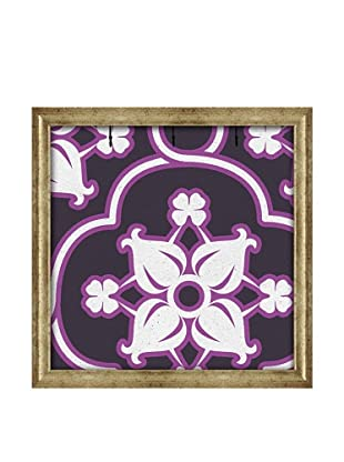 PTM Images Canvas Key/Jewelry Organizer with Foam-Core Backing, Purple/White
