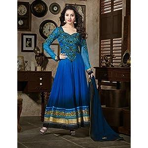 Shraddha Kapoor Blue Georgette Anarkali Suit - SUKHW1107