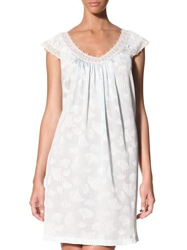 Oscar de la Renta Women's Seaside Mornings Gown (Clear Blue)