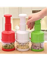 Stainless Fruit Salad Vegetable Onion Hand Chopper Slicer Cutter Cooking Tools Kitchen Press Tools Peeler Grater (1x Pcs )