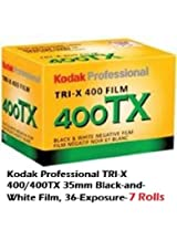 7 Rolls Kodak Professional TRI-X 400/400TX 35mm Black-and-White Film, 36-Exposure