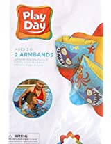 Play Day Shark And Orange Octopus Armbands Floaties Ages 3 6