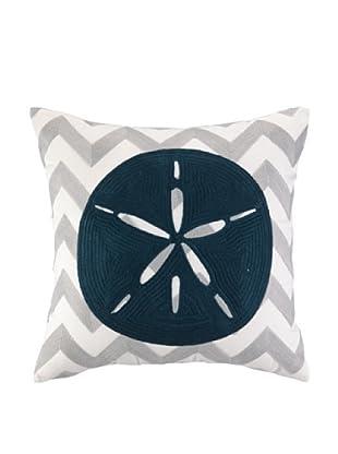 Peking Handicraft Sand Dollar Embroidered Chevron Pillow