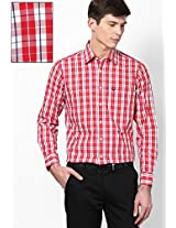 Red Check Regular Fit Casual Shirt Allen Solly