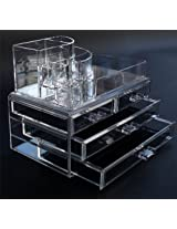 Beauty Acrylic Makeup Organizer Luxury Cosmetics 3 Layers 4 Drawers Acrylic Clear Case Storage Insert Holder Box 1157
