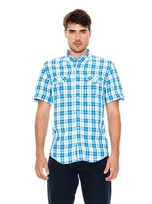 Timberland Camisa Harmon Linen Bomber (Azul / Blanco)