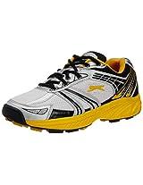 Slazenger Stealth Cricket Shoe, Size 8 (White / Yellow / Black)