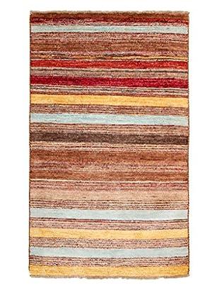 Darya Rugs Modern Oriental Rug, Brown, 3' 2