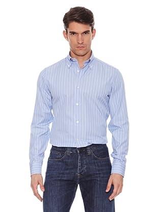 Hackett Camisa Rayas (Azul / Chocolate)