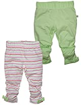 FS Mini Klub Baby Girls Cotton Leggings - Pack of 2 (Newborn)