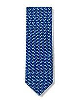 Micro Sharks Silk Tie Necktie - Men's Animal Print Blue Neck Tie