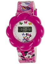Disney Digital Multi-Color Dial Girls's Watch - TP-1258 (Pink)