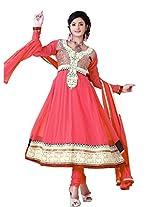 Nazaquat Elegant Peach Anarkali Suit Salwar Kameez