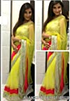 Mansi Soni Yellow Bollywood Replica Saree