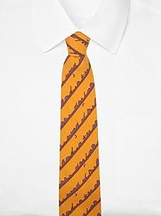 Hermès Men's Cityscape Tie (Orange/Lavender)