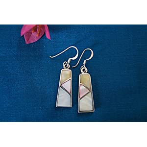 Gajgauri Beautiful Silver Earring With Mother Of Pearl