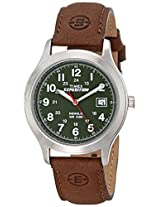 "Timex Men's T40051 ""Expedition"" Metal Field Watch with Brown Leather Band"