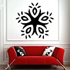 DeStudio Circular Abstract Floral Wall Sticker|SIZE | MEDIUM | GRAY