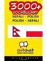 3000+ Nepali - Polish Polish - Nepali Vocabulary