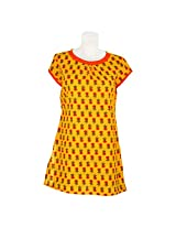 Cotton Curio Women's Traditional Kurti_S - (cc-eco-19_S_Yellow)