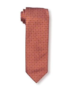 Massimo Bizzocchi Men's Block Diamond Tie, Red Orange