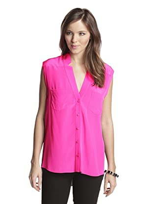 Mason by Michelle Mason Women's Sleeveless Blouse (Pink/Black)