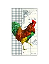 Paperproducts Design 1411071 French Rooster Paper Guest Towel, 15-Pack