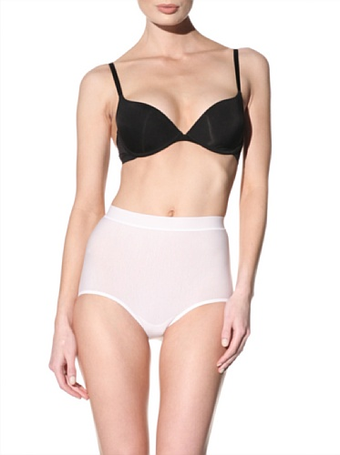 Nearly Nude Women's Smoothing Cotton Brief (White)