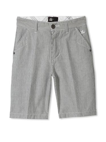 Micros Boys 8-20 Cooper Striped Shorts (Off-White)