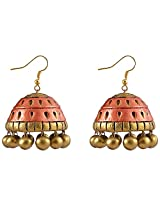 Avarna Terracotta Jhumki Hanging Earrings Jhd0004 For Women (Red )
