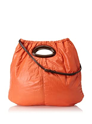 MARNI Women's Puffy Tote, Orange/Brown