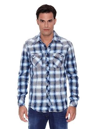 Pepe Jeans London Camisa Diablo (Azul / Blanco)