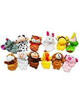 12 Pcs A Set Finger Puppet/Dolls/Toys Story Telling Props/Tools Toy Model Babies/Kids/Children Toys,Chinese Zodiac