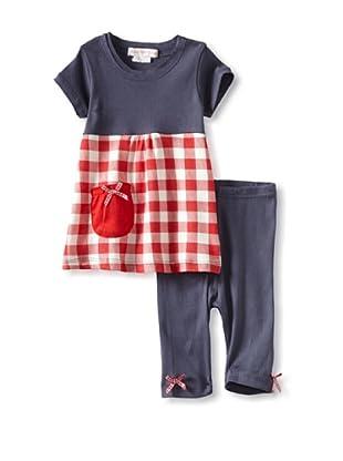 Mish Mish Baby Check Tunic & Legging (Red Check)